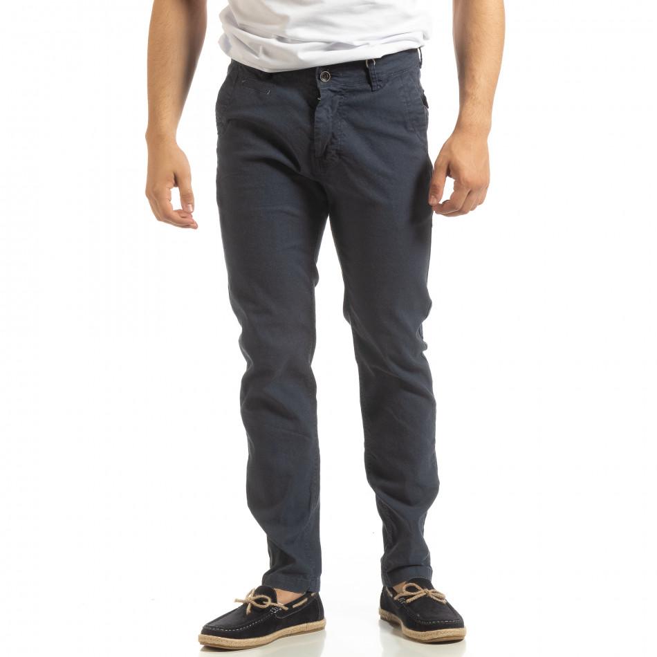 Ανδρικό μπλε παντελόνι CHINO it090519-6