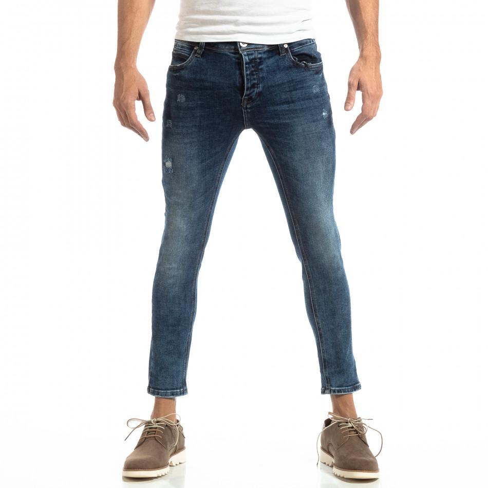 Ανδρικό γαλάζιο τζιν Slim Fit it261018-15