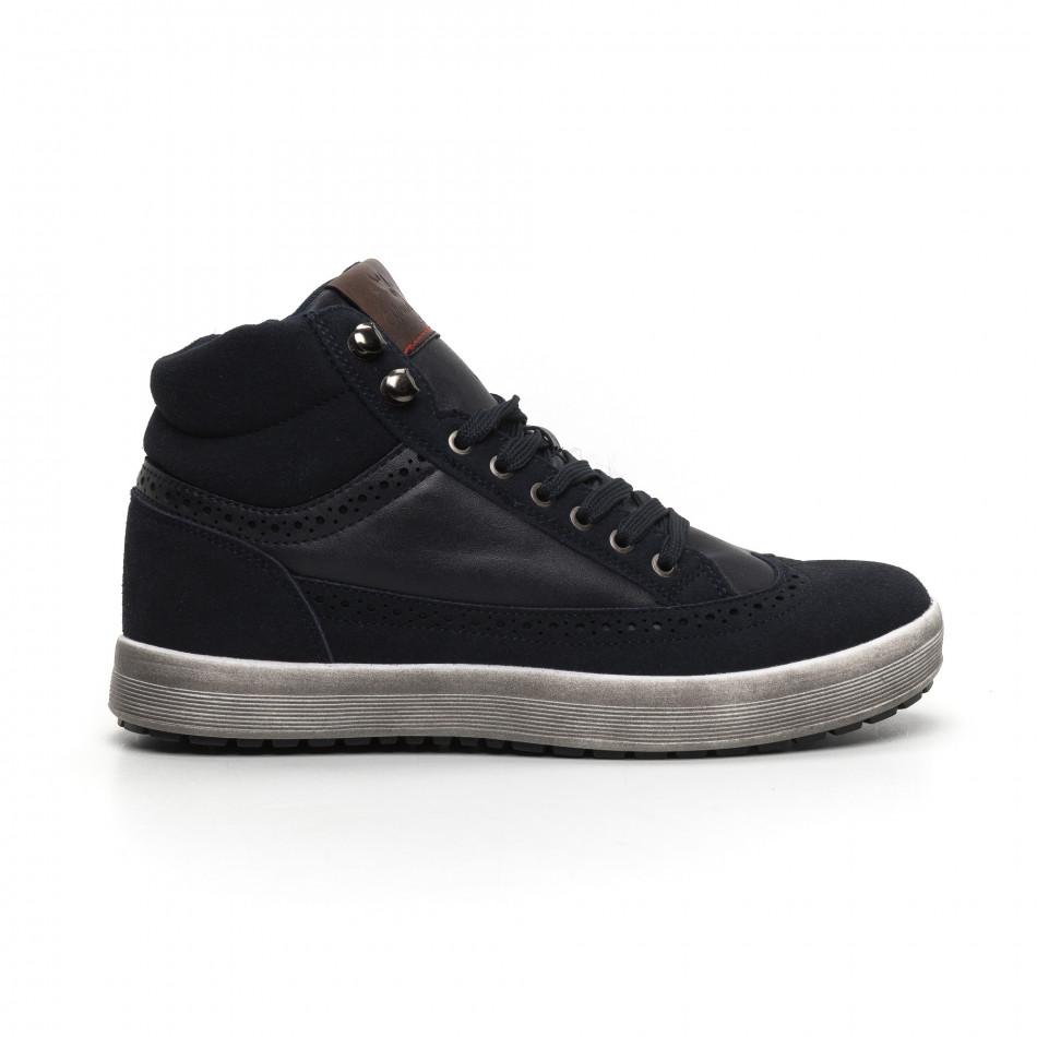 Ανδρικά μπλε ψηλά sneakers  it260919-43