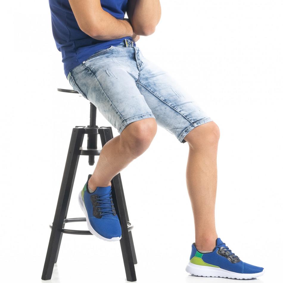 Ανδρικό γαλάζιο τζιν βερμούδα Yes!Boy it050620-11