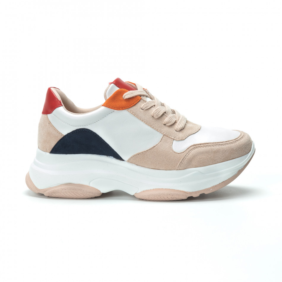 Γυναικεία πολύχρωμα sneakers με πλατφόρμα it250119-48