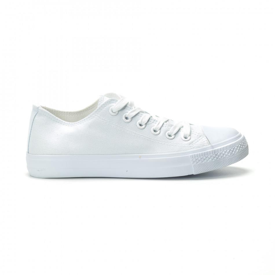 Ανδρικά λευκά sneakers κλασικό μοντέλο it250119-11