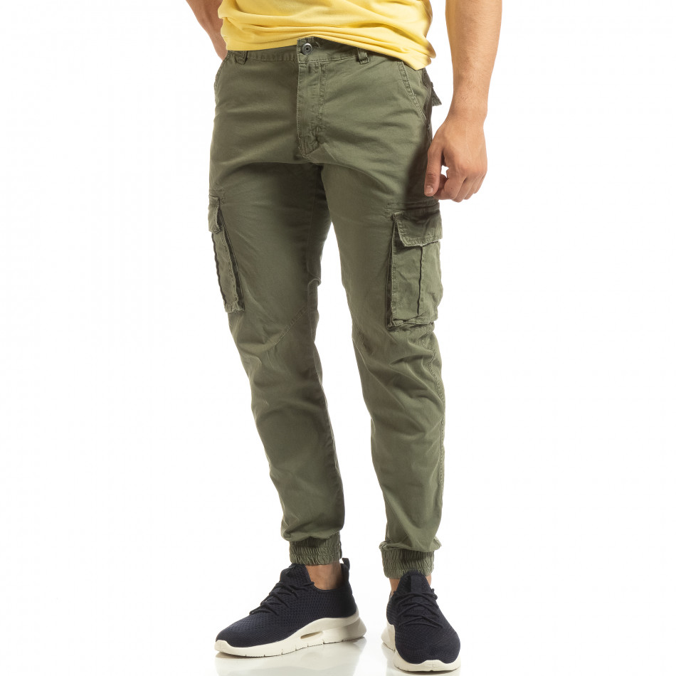 Ανδρικό πράσινο παντελόνι Cargo Jogger it090519-8