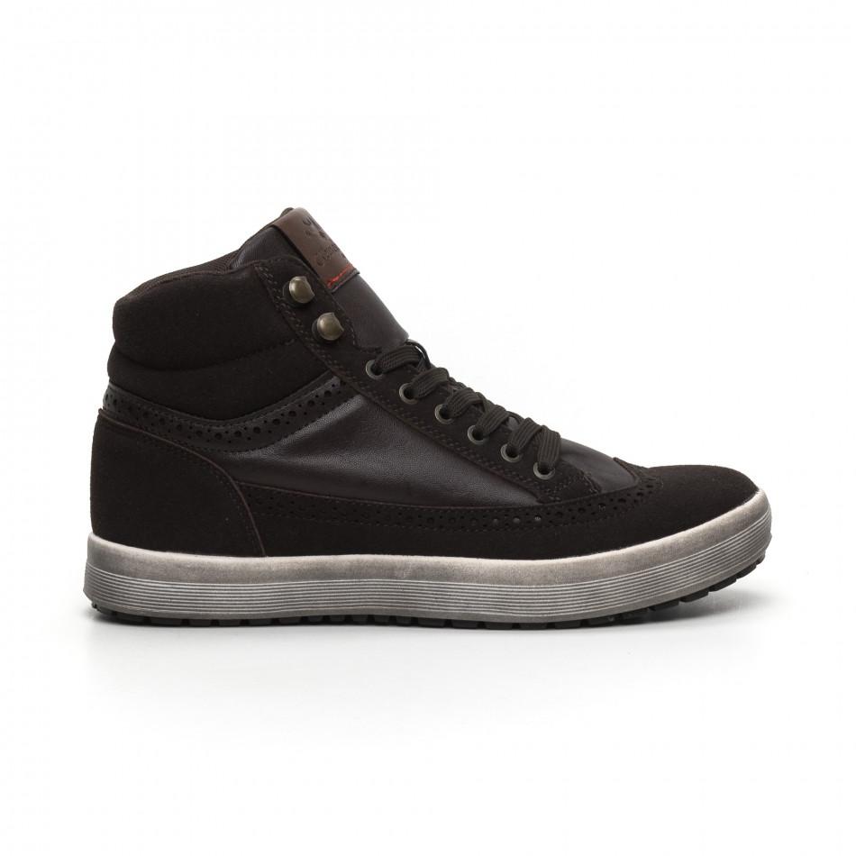 Ανδρικά καφέ ψηλά sneakers  it260919-44