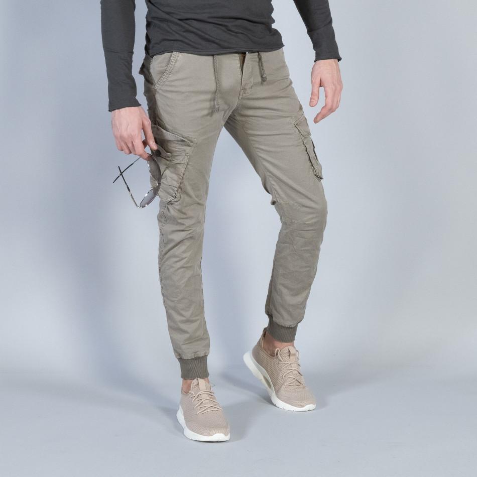 Ανδρικό μπεζ Cargo Jogger παντελόνι it040219-29