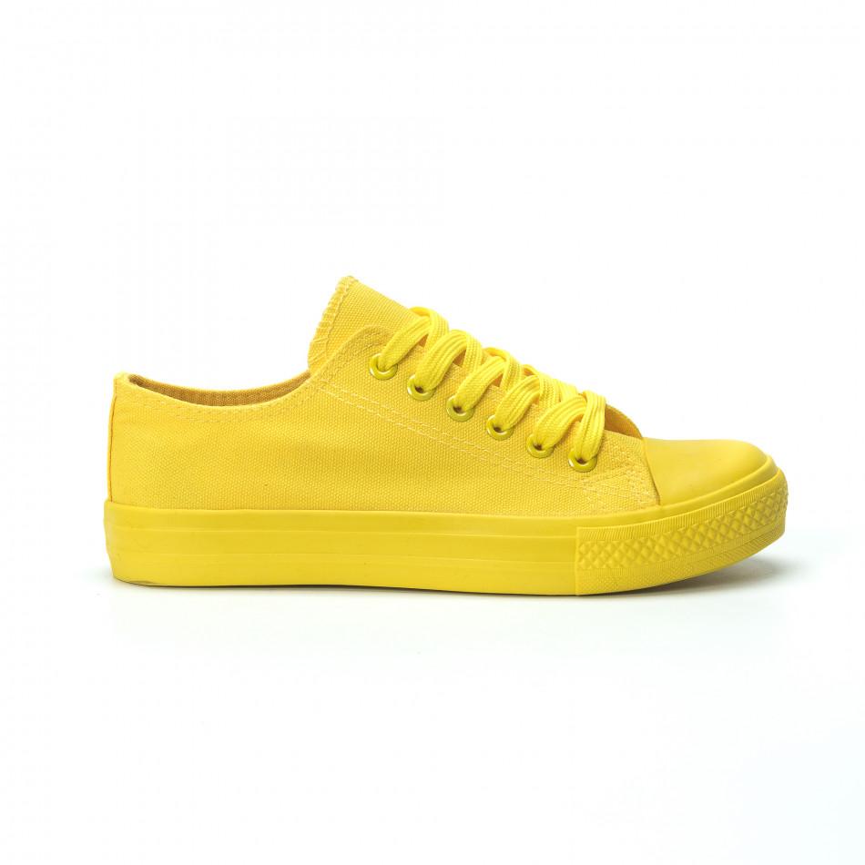 Γυναικεία κίτρινα sneakers  it250119-73