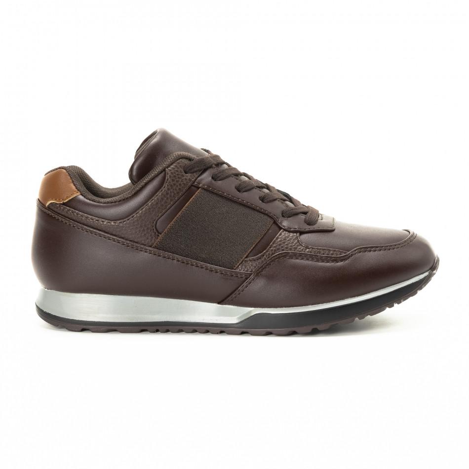 Ανδρικά καφέ αθλητικά παπούτσια κλασικό μοντέλο it221018-30