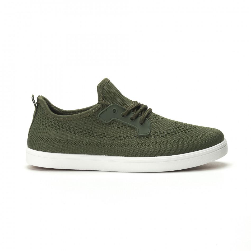 Ανδρικά χακί sneakers ελαφρύ μοντέλο it250119-15