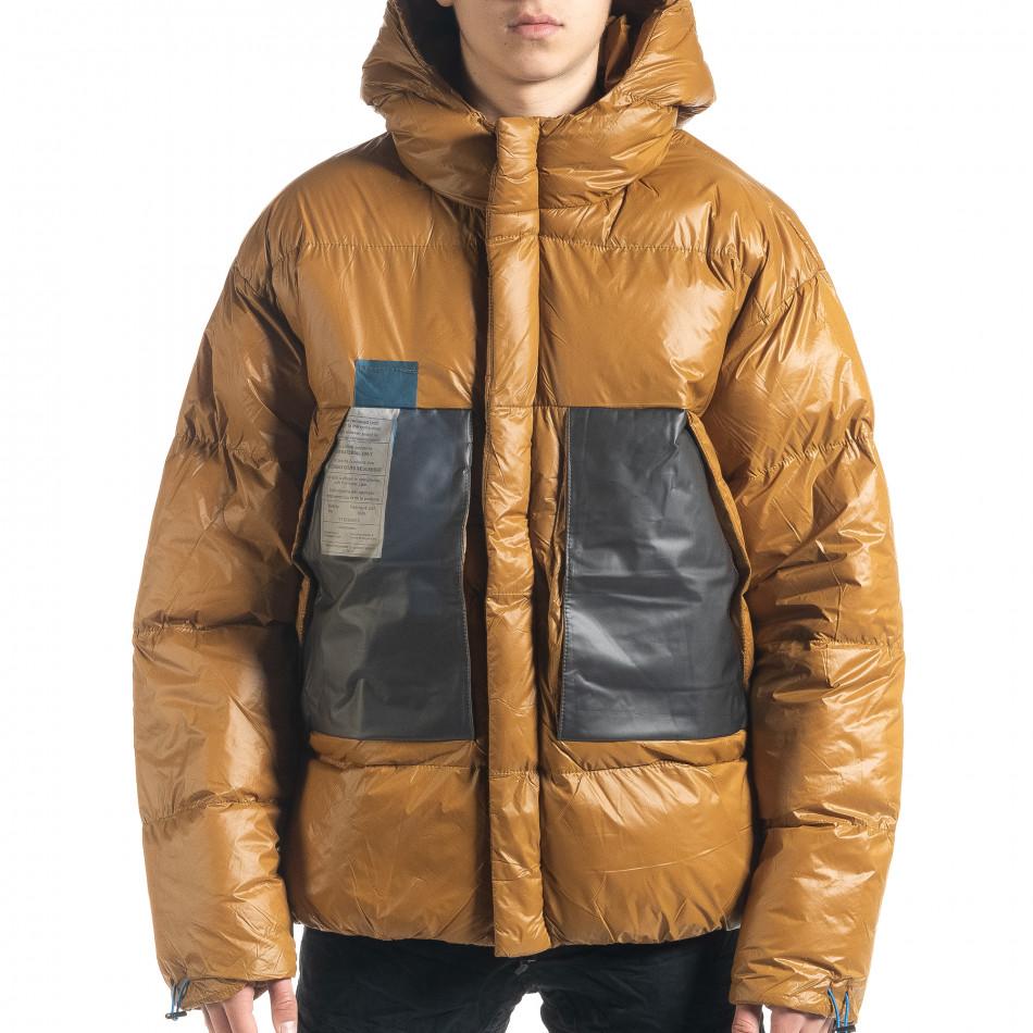 Ανδρικό χειμωνιάτικο μπουφάν με μεγάλες τσέπες it091219-15