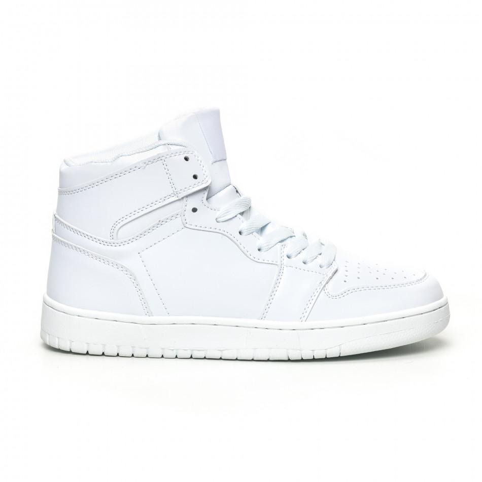 Ανδρικά ψηλά λευκά sneakers it051219-2