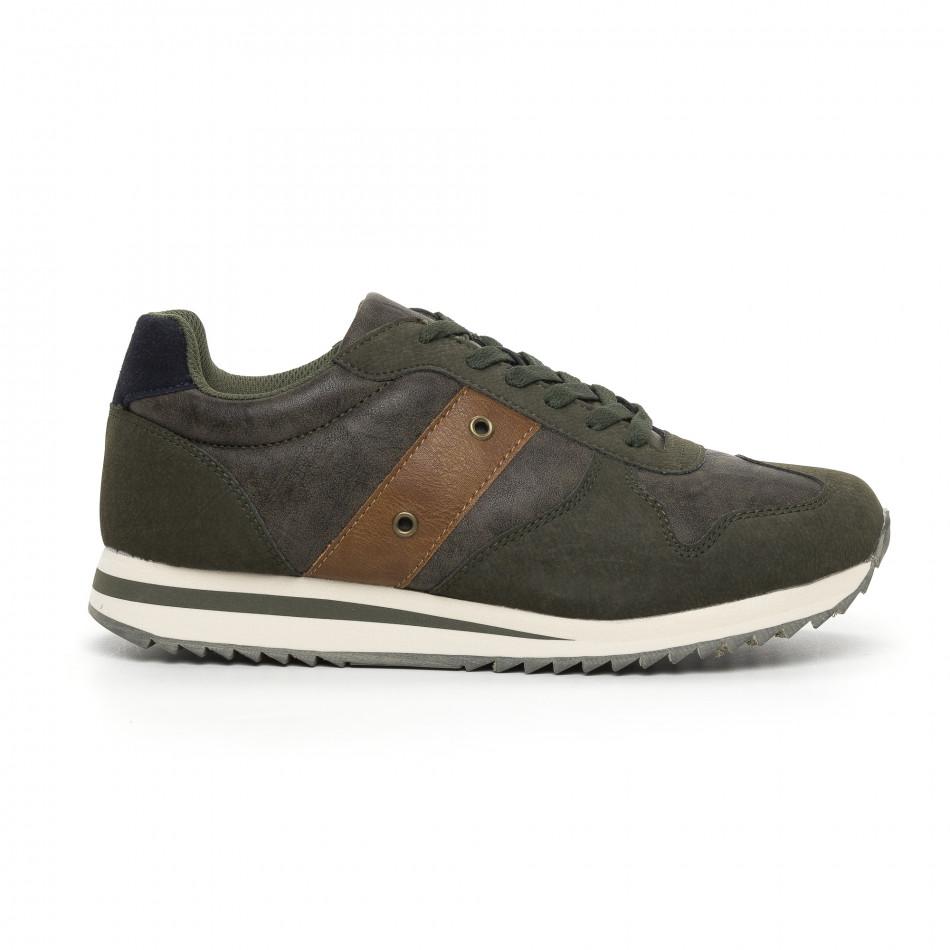 Ανδρικά πράσινα αθλητικά παπούτσια  it130819-4