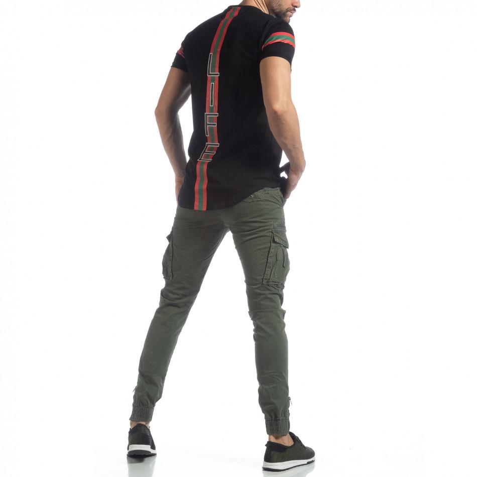 Ανδρικό πράσινο παντελόνι cargo με φερμουάρ it040219-35