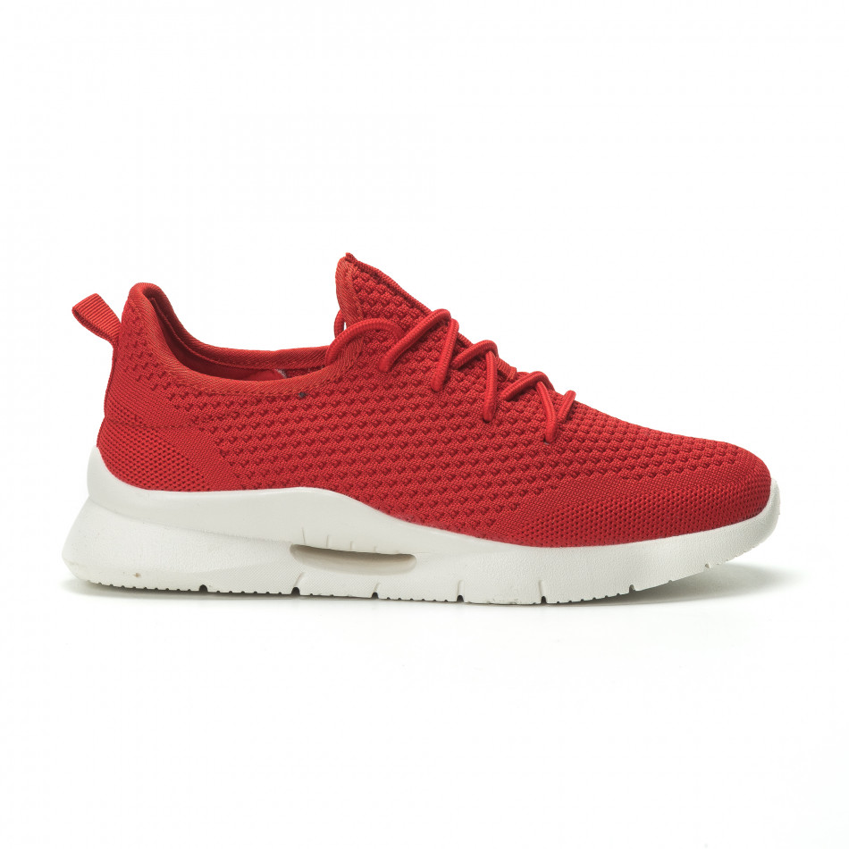 Ανδρικά κόκκινα αθλητικά παπούτσια Hole design ελαφρύ μοντέλο it250119-21