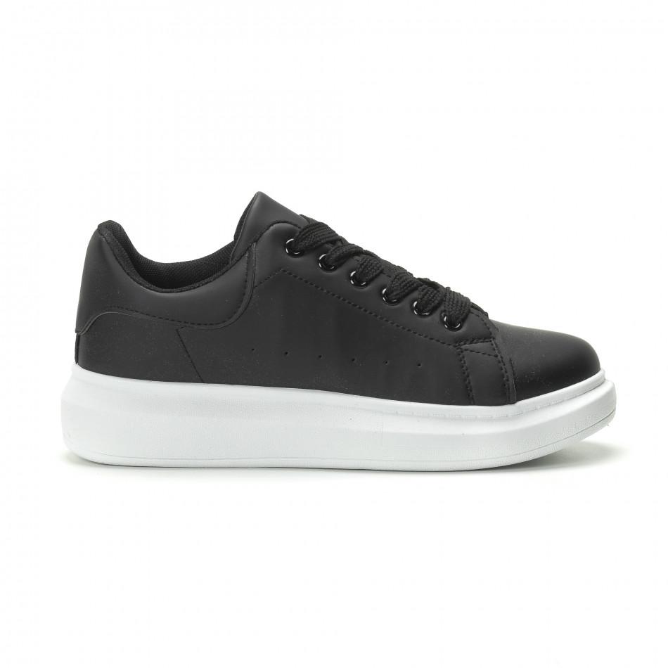 Ανδρικά μαύρα sneakers με χοντρή σόλα it250119-31