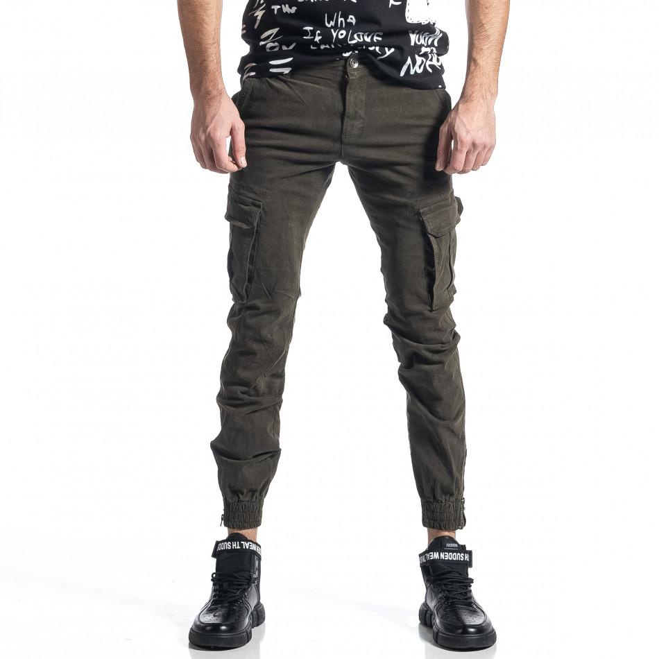 Ανδρικό πράσινο παντελόνι cargo Jogger it010221-45