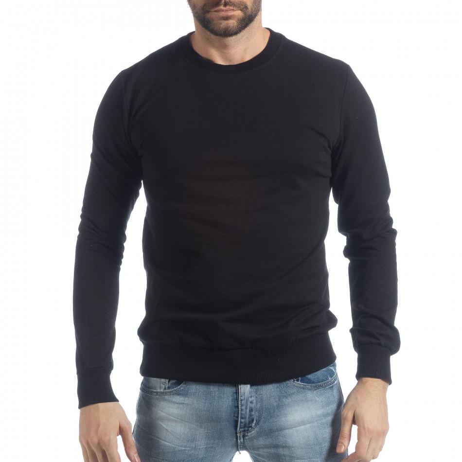 Ανδρική μαύρη μπλούζα Basic it040219-93