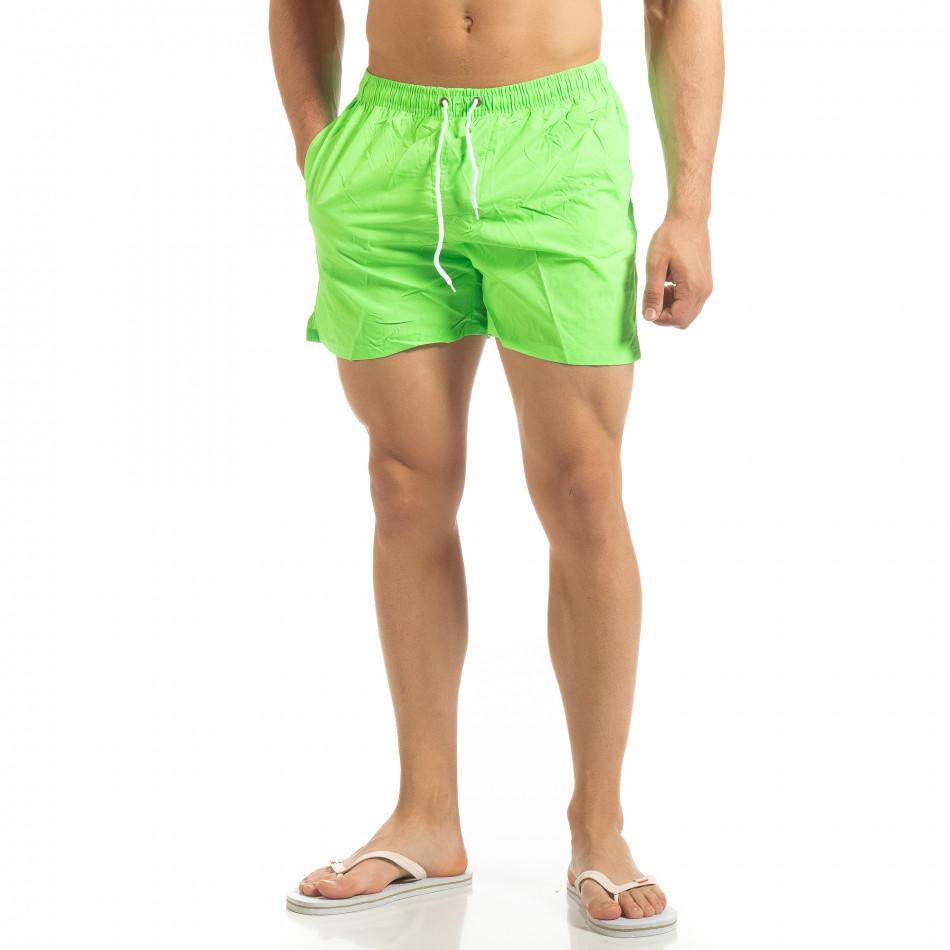 Basic ανδρικό πράσινο φωσφοριζέ μαγιό  it090519-81