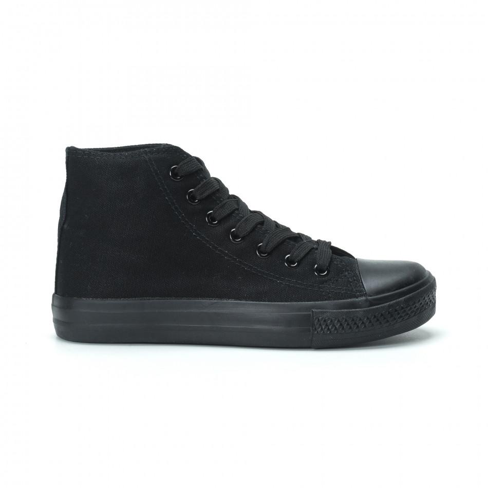 Γυναικεία μαύρα ψηλά sneakers  it250119-80