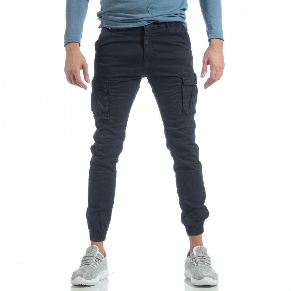 Ανδρικό μπλε cargo Jogger παντελόνι it040219-38