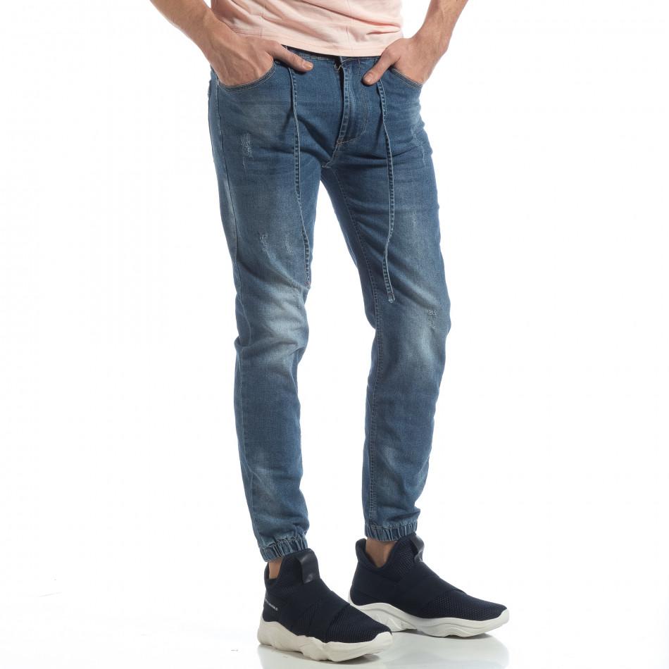 Ανδρικό γαλάζιο τζιν Jogger Jeans it040219-3