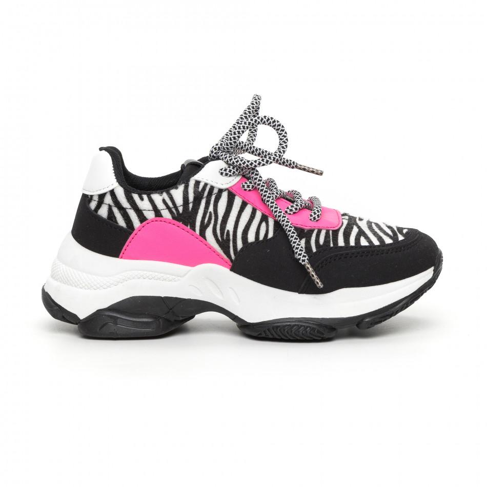 Γυναικεία αθλητικά παπούτσια με ζέβρα μοτίβο it130819-75