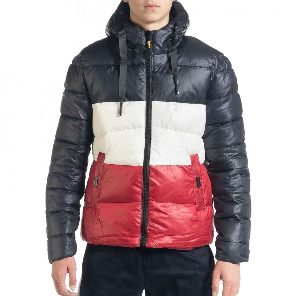 Ανδρικό χειμωνιάτικο μπουφάν με ρίγες it091219-13