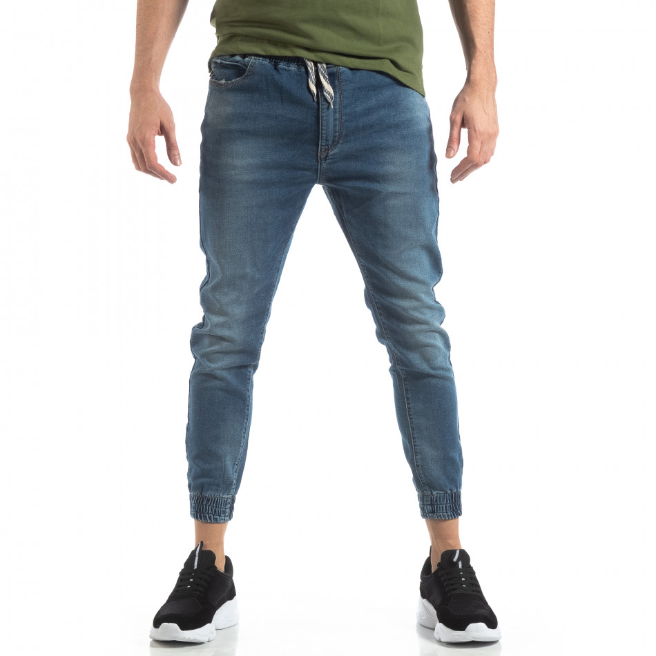 Ανδρικό γαλάζιο τζιν Jogger Jeans it210319-2