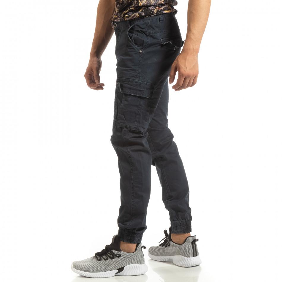 Ανδρικό μπλε παντελόνι Cargo Jogger it090519-10