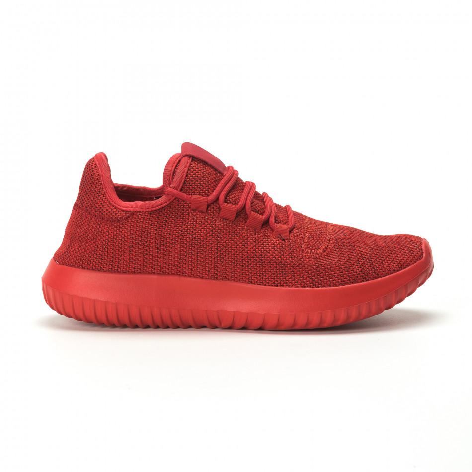 Ανδρικά κόκκινα αθλητικά παπούτσια All Red ελαφρύ μοντέλο it250119-20