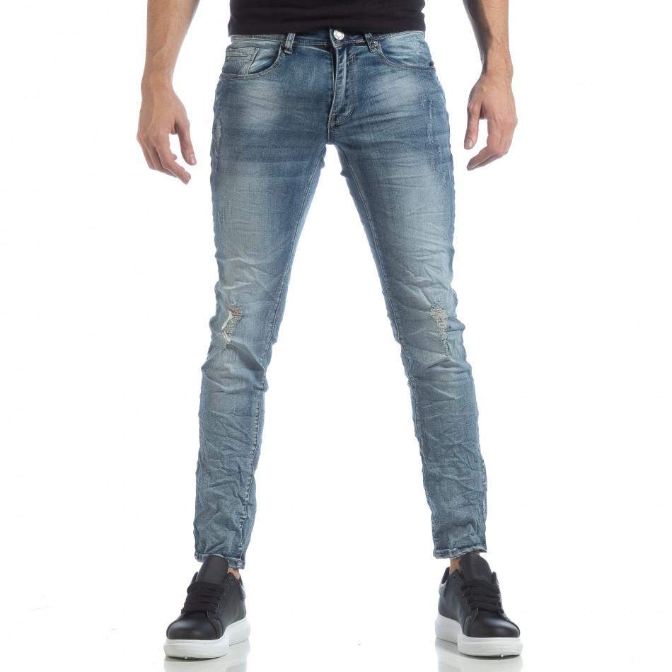 Ανδρικό γαλάζιο τζιν Slim fit it040219-11