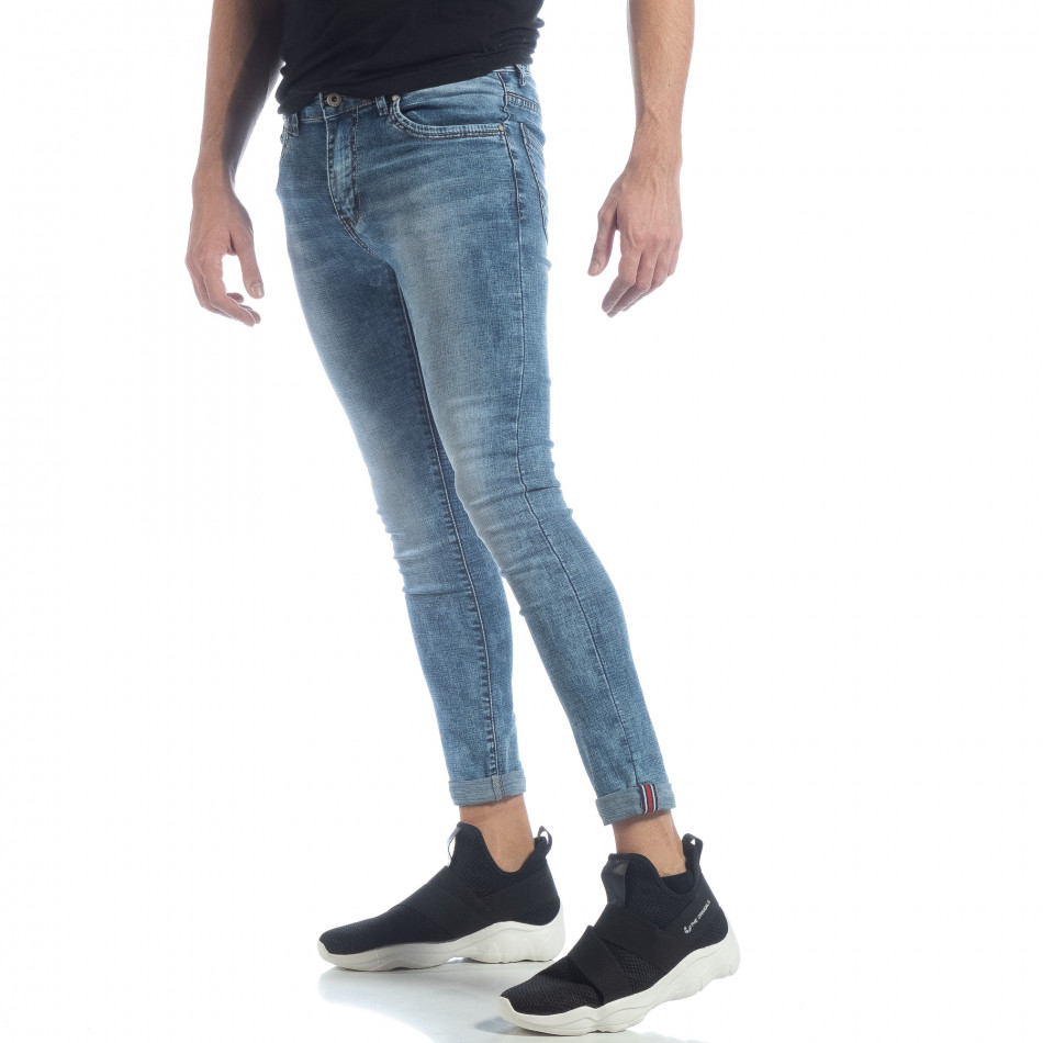 Ανδρικό γαλάζιο τζιν Skinny Washed Jeans it040219-7