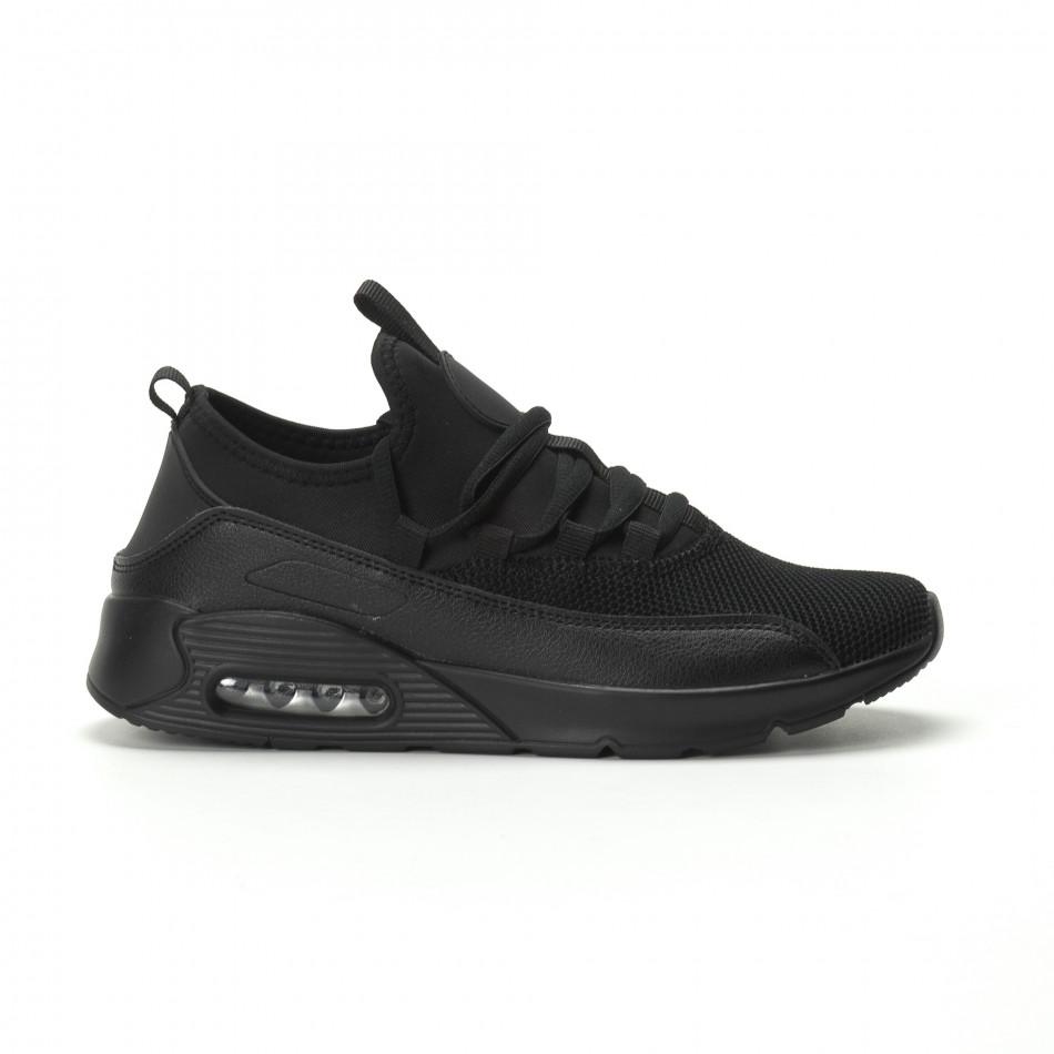 Ανδρικά μαύρα αθλητικά παπούτσια Air ελαφρύ μοντέλο it250119-29