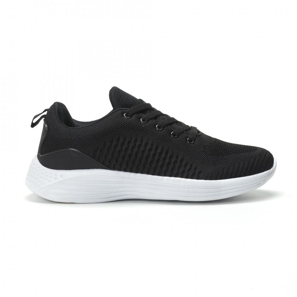 Ανδρικά μαύρα αθλητικά παπούτσια ελαφρύ μοντέλο it250119-19