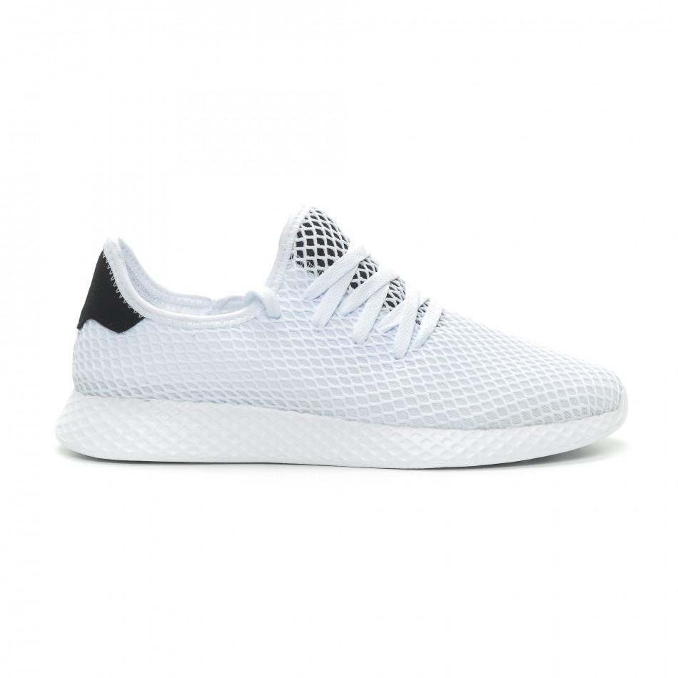 Ανδρικά λευκά αθλητικά παπούτσια Mesh ελαφρύ μοντέλο it150319-22