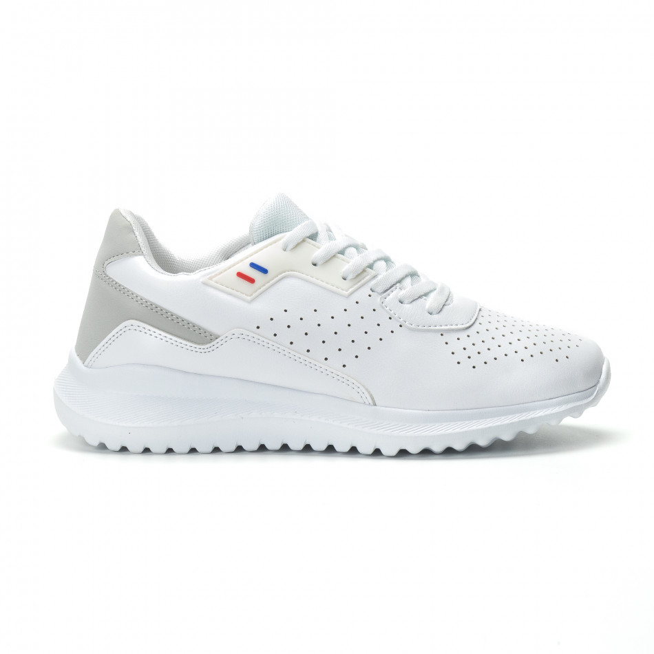 Ανδρικά λευκά αθλητικά παπούτσια ελαφρύ μοντέλο it250119-16