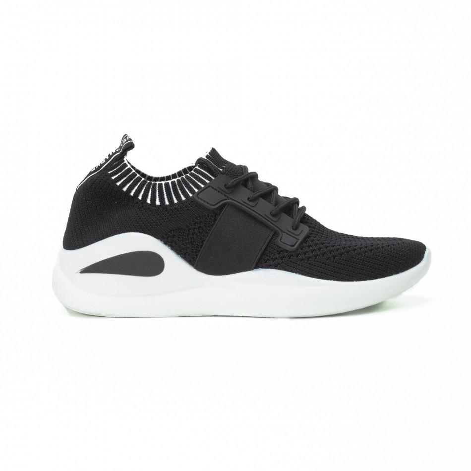Ανδρικά μαύρα αθλητικά παπούτσια FM it150818-9