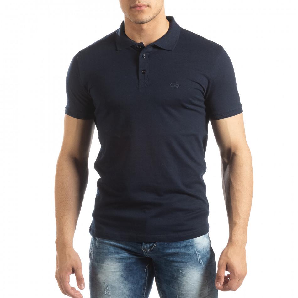 Ανδρική σκούρα μπλε Polo Shirt it150419-96