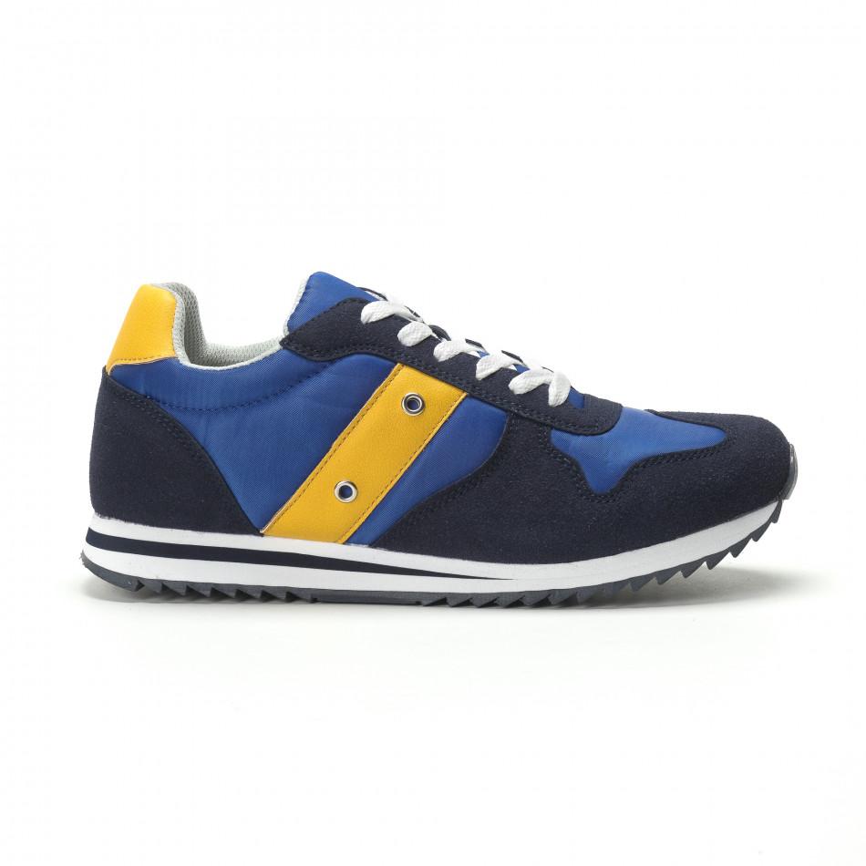Ανδρικά μπλε αθλητικά παπούτσια κλασικό μοντέλο it250119-4