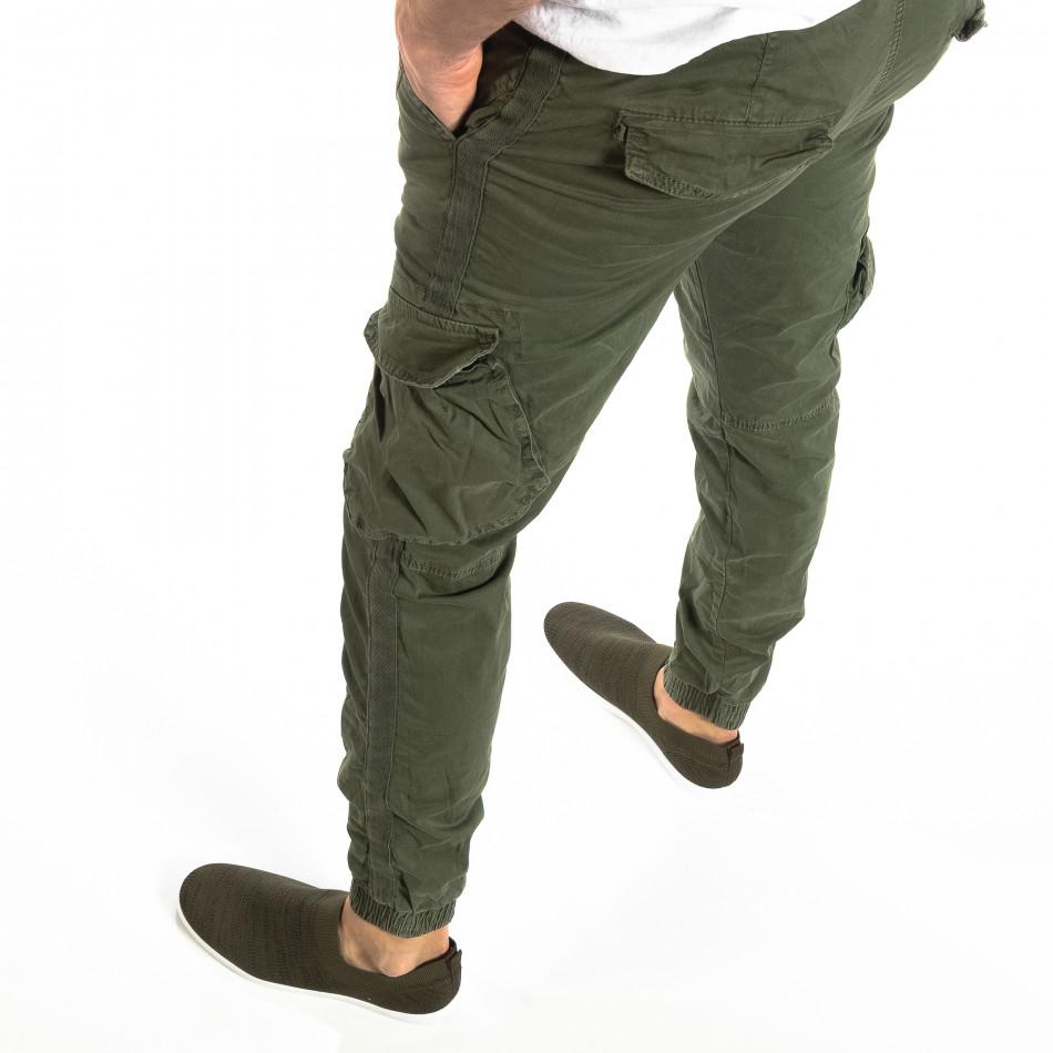 Ανδρικό military πράσινο παντελόνι Cargo Jogger it210319-17