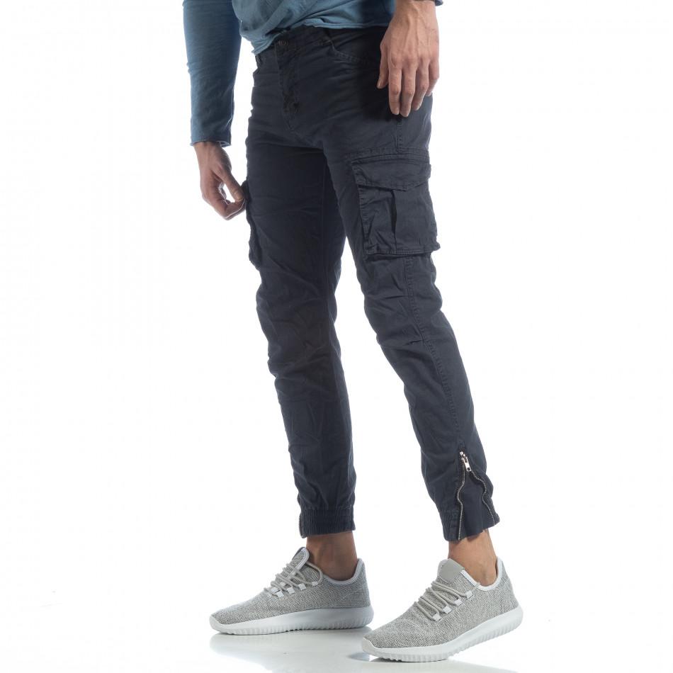 Ανδρικό μπλε cargo Jogger παντελόνι  it040219-32