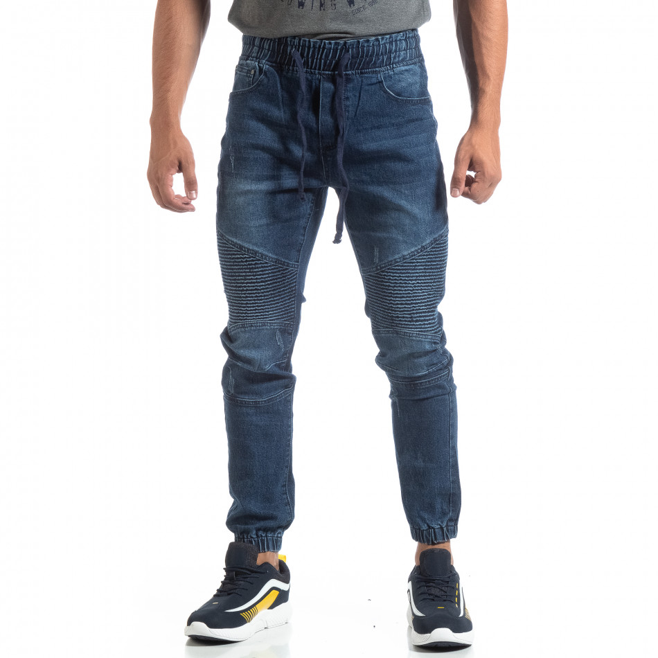 Ανδρικό μπλέ Jogger Jeans σε ροκ στυλ it170819-60