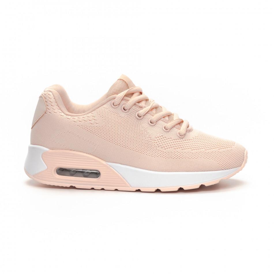 Γυναικεία ροζ αθλητικά παπούτσια με αερόσολα it240419-33