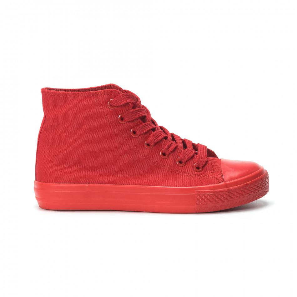 Γυναικεία κόκκινα ψηλά sneakers it250119-78