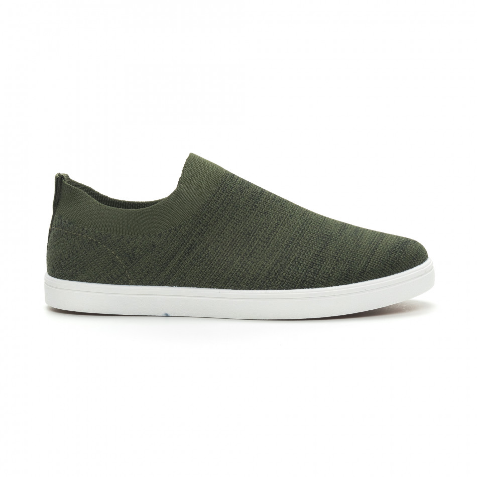 Ανδρικά πράσινα μελάνζ sneakers κάλτσα it150319-16