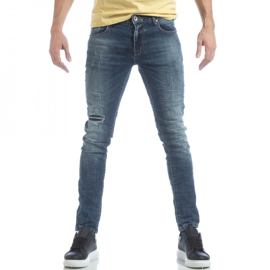 Ανδρικό μπλε τζιν Washed Jeans it040219-10