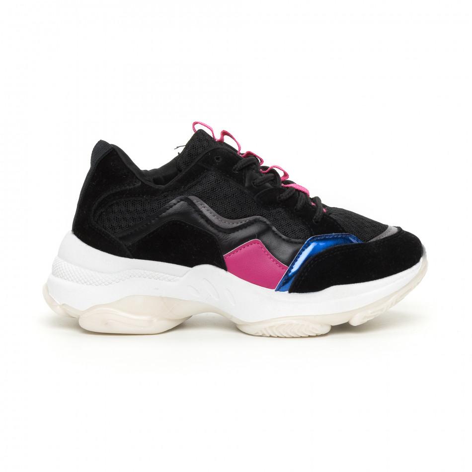 Γυναικεία αθλητικά παπούτσια με λεπτομέρειες it130819-69