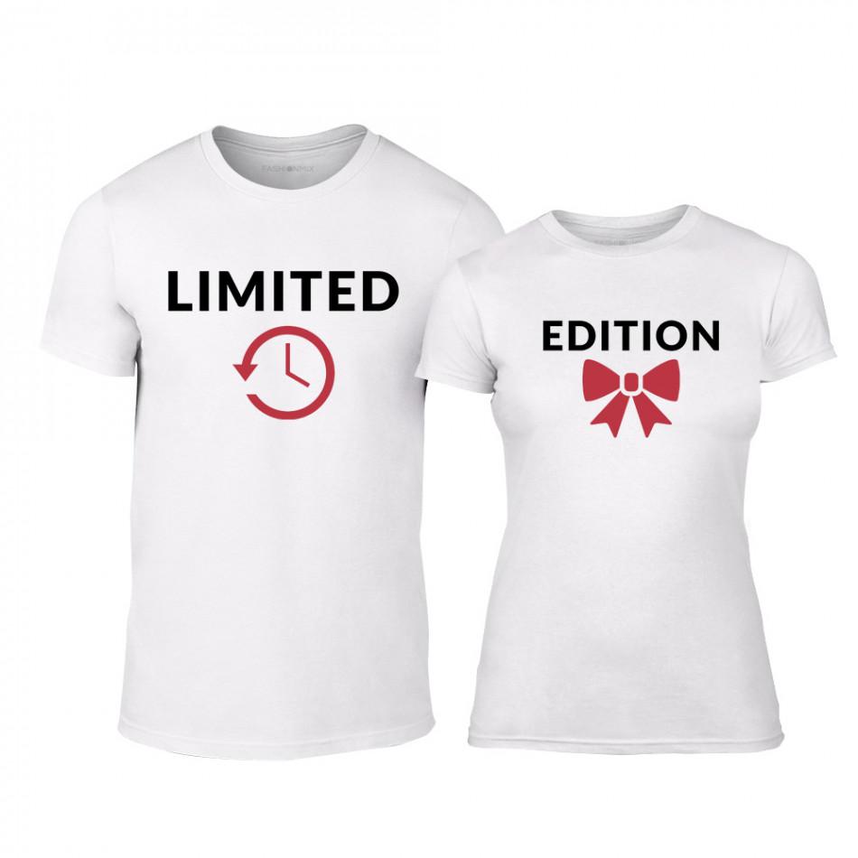 Μπλουζες για ζευγάρια Limited Edition λευκό TMN-CP-161