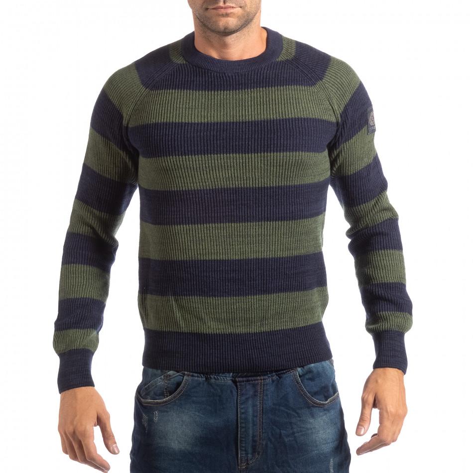 Ανδρικό γαλάζιο πουλόβερ RESERVED lp290918-105