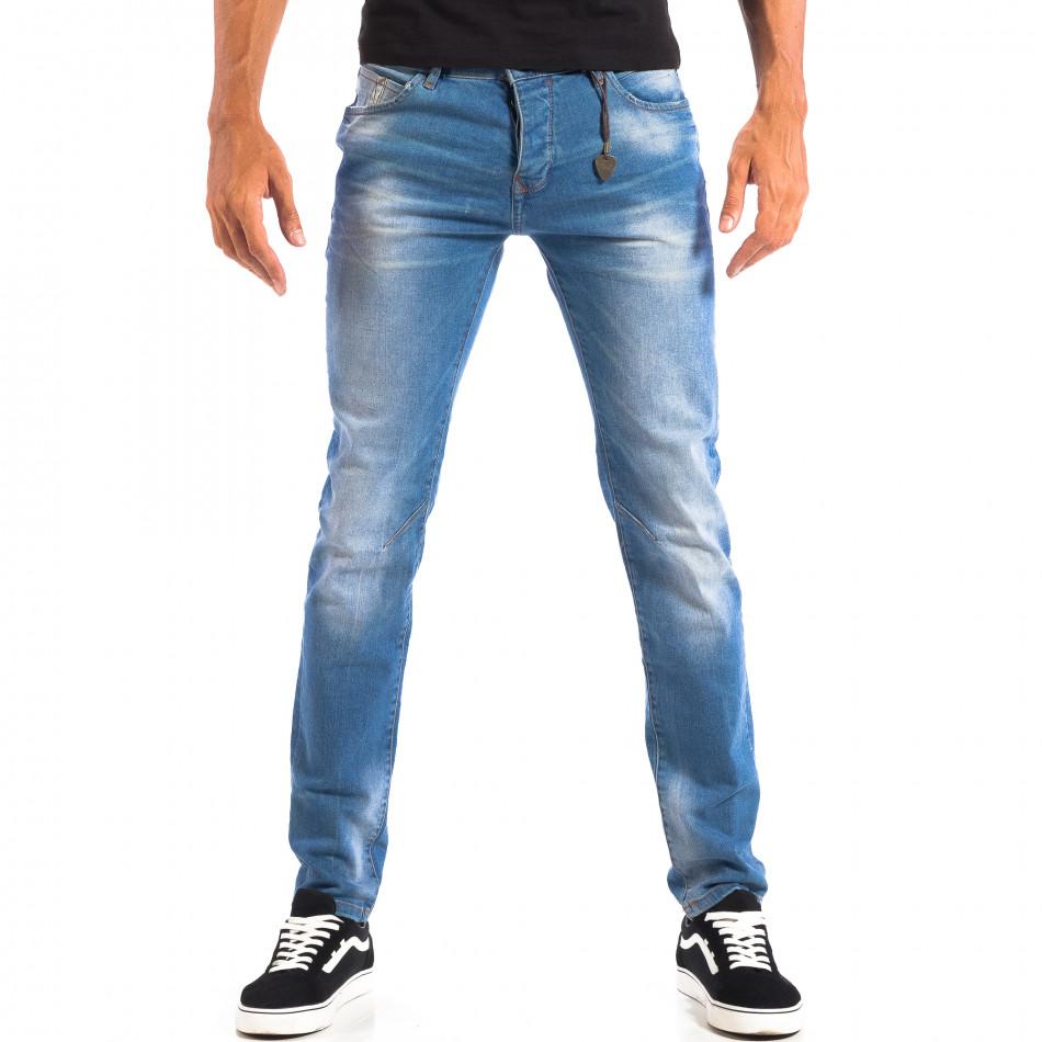 Ανδρικό γαλάζιο τζιν House lp060818-66