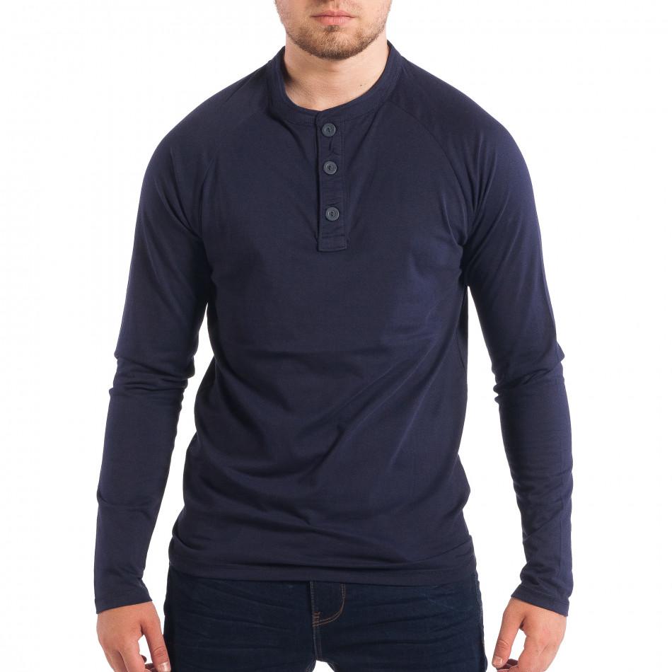 Ανδρική μπλε μπλούζα με κουμπιά RESERVED lp070818-42